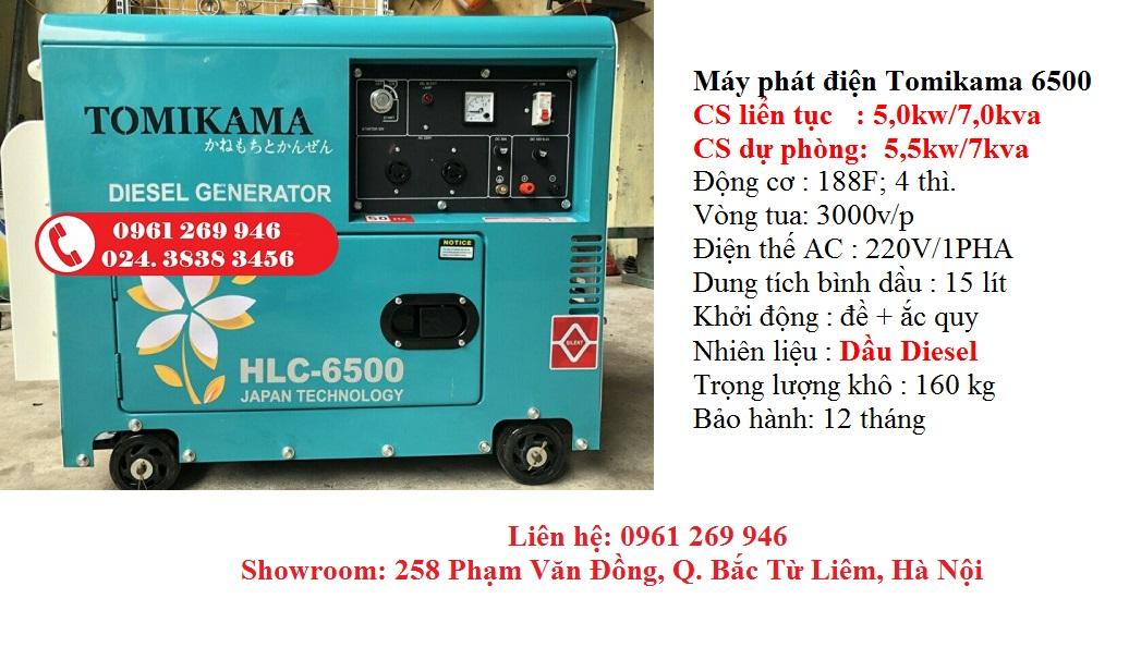 www.kenhraovat.com: Máy phát điện Tomikama HLC 6500 công suất 5kw giá rẻ
